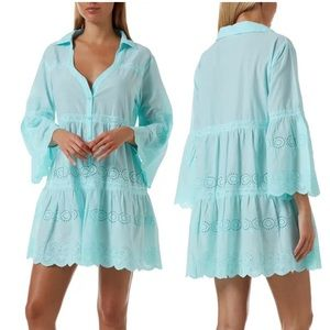 Melissa Odabash Becky Button-Front Swim Cover-Up